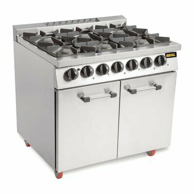 Buffalo 6 Burner Gas Oven Range With Castors - CT253 Catering Commercial  • 1,502.99£