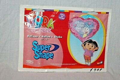 New In Package Dora The Explorer Large Super Shape  Balloon  Party Supplies • 4.79£