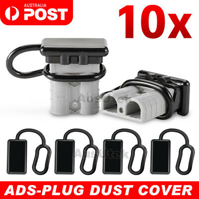 AU13.65 • Buy For Anderson Plug Cover Style Connectors 50AMP Battery Caravn Black Dust Cap 10x