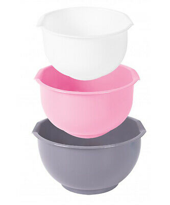 £7.99 • Buy Cookhouse Set Of 3 Plastic Mixing Bowl With Pouring Lip And Non-Slip Base