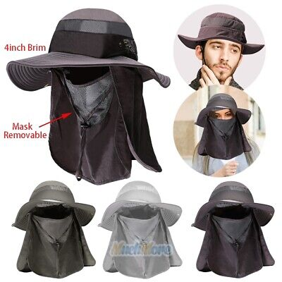 $15.87 • Buy 4  Wide Brim Outdoor Fishing Hat Sun Protection Neck Face Flap Cap For Men Women