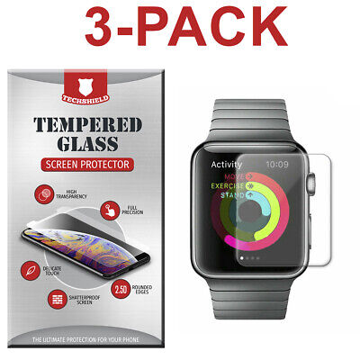 $ CDN3.74 • Buy 3-Pack Tempered Glass Screen Protector For Apple Watch 4/3/2/1 38/42/40/44mm
