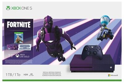 $499.99 • Buy Microsoft Xbox One S 1TB Console Fortnite Special Edition Bundle [XBONE Purple]