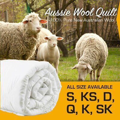 AU68.99 • Buy Aus Stock Merino Wool Quilt Duvet Doona Summer/Winter All Size 300/500/700 GSM