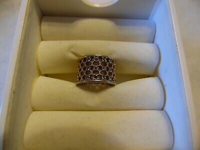 $ CDN13.59 • Buy Kiam Family Lia Sophia Gold With Cut Crystals Ring  Damascus  Size 8 NEW
