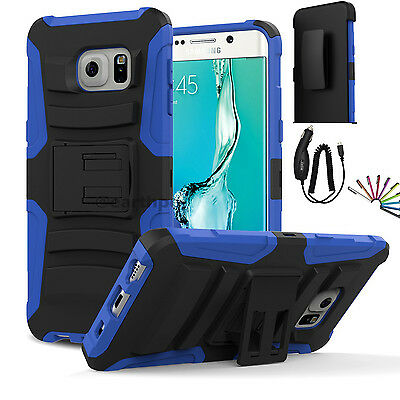 $ CDN13.55 • Buy BL Samsung Galaxy S6 Edge Plus Hybrid Rugged Holster Case Cover Stand Clip +Gift