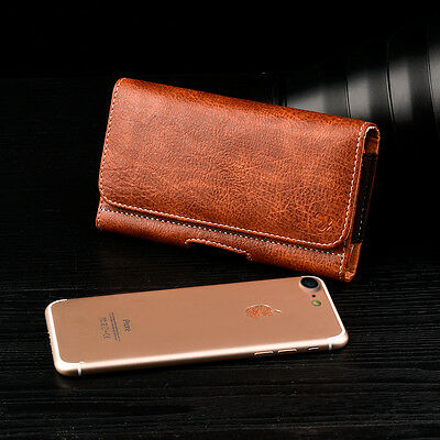 $ CDN12 • Buy Samsung Galaxy S6 EDGE PLUS BROWN XL LEATHER BELT CLIP H HOLSTER W CASE ON (717)