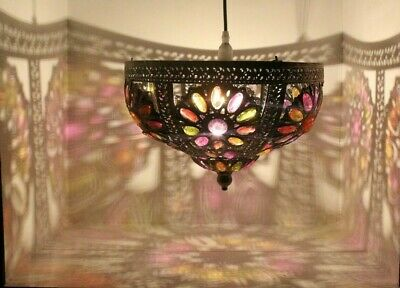 £43 • Buy Moroccan Style Metal Lampshade Ceiling Pendant Light Shade Flower Design