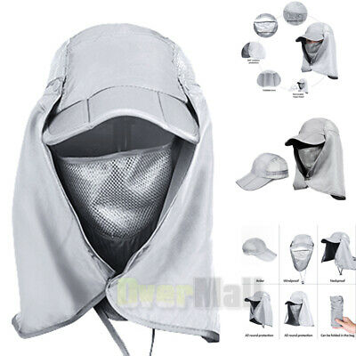 $12.81 • Buy Fishing Garden Sun Cap Solar Protection Shade Hat Neck & Face Flap Cover