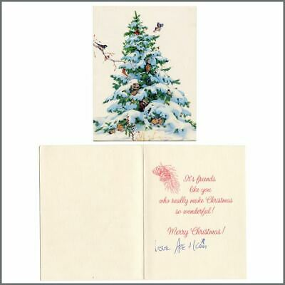 KISS Ace Frehley 1988 Signed Christmas Card To Lydia Criss (USA) • 165£