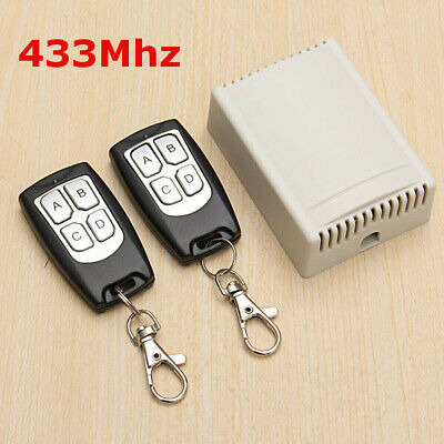 £10.89 • Buy 12V 4CH Channel 433Mhz Wireless Remote Control Switch With 2 Transmitter 10A UK