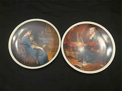 $ CDN18.66 • Buy LOT OF 2 Norman Rockwell Plates MOTHERS DAY Bedtime 1978 & Reflections 1979