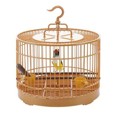 $47.59 • Buy Bird Feeding Cage Breathable Bird Carrier Parrot Retro Round Travel Cage