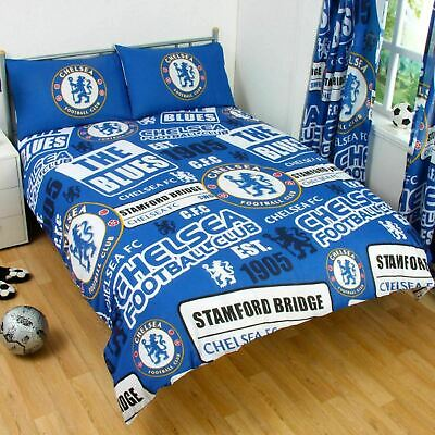 £36.95 • Buy Chelsea FC Double Duvet Quilt Cover Bed Set Football Official Bedding Patch