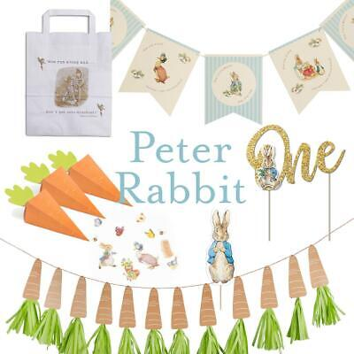 Peter Rabbit Birthday Party Christening Decoration Invites Signs Bunting Bags • 5.50£