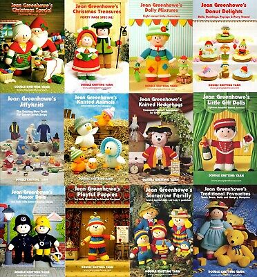 £6.99 • Buy Jean Greenhowe Toy Knitting Pattern Books / Booklets - Various Titles- ALL NEW