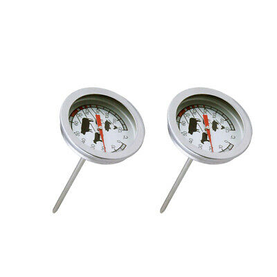 2Pieces Dial Thermometer Probe-Type Coffee Milk Drinks BBQ Meat • 4.99£
