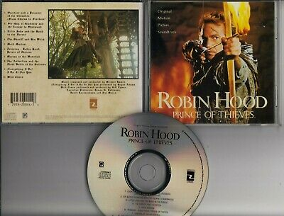 ROBIN HOOD PRINCE OF THIEVES Soundtrack MICHAEL KAMEN CD USA MORGAN CREEK • 6.95£
