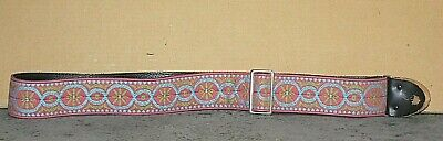 $ CDN75.18 • Buy  Vintage 1970's Bobby Lee Guitar Strap With Psychedelic Colors & Pattern A2773