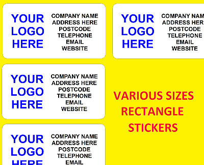 £2.59 • Buy Personalised Business Name Stickers Thank You Seals Your Logo Labels Address Rec