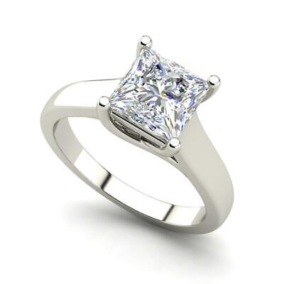 $933.30 • Buy Solitaire 0.5 Carat VS2/H Princess Cut Diamond Engagement Ring White Gold