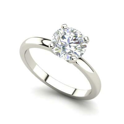 $1711.60 • Buy Solitaire 0.5 Carat VVS2/F Round Cut Diamond Engagement Ring White Gold