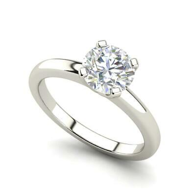 $837.60 • Buy Solitaire 0.5 Carat VS2/H Round Cut Diamond Engagement Ring White Gold