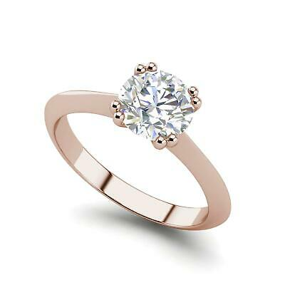 $930.60 • Buy Double Prong 0.5 Carat VS2/D Round Cut Diamond Engagement Ring Rose Gold