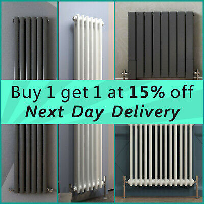 £50.12 • Buy Vertical Horizontal Central Heating Radiator Traditional Oval Column Flat Panel