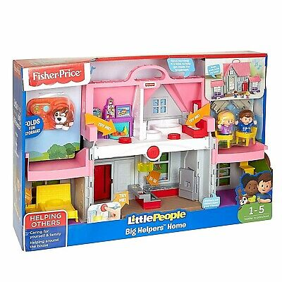 Fisher-Price DollHouse Little People Big Helpers Home Children's Toys Pink • 39.99£