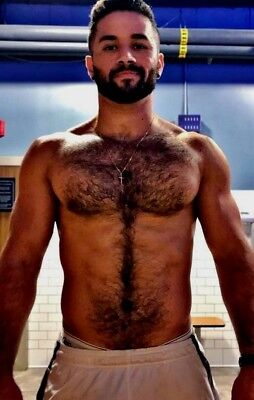 $ CDN4.43 • Buy Shirtless Male Muscular Beefcake Physique Hairy Chest Beard Hunk PHOTO 4X6 F1392