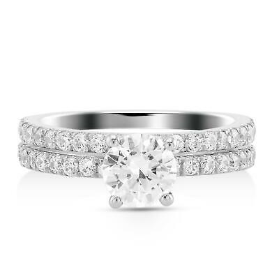 $ CDN6979.87 • Buy 2 Carat E Vs2 Round Solitaire Diamond Engagement Ring Set With Matching Band