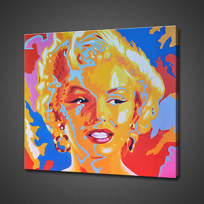 £24.99 • Buy Marilyn Monroe Colourful Abstract Portrait Canvas Print Wall Art Picture Photo