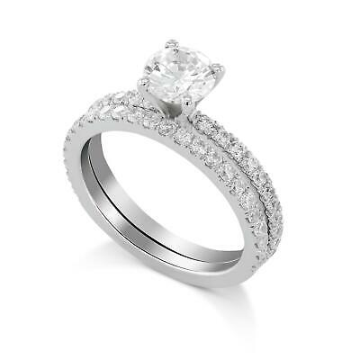 $ CDN9471.27 • Buy 2.25 Carat E Vs2 Round Solitaire Diamond Engagement Ring Set With Matching Band