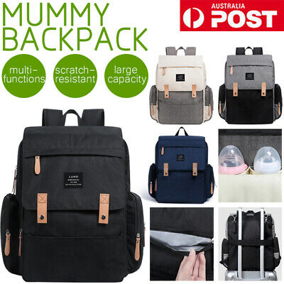 AU36.99 • Buy 25L GENUINE LAND Multifunctional Baby Diaper Backpack Changing Bag Nappy Mummy
