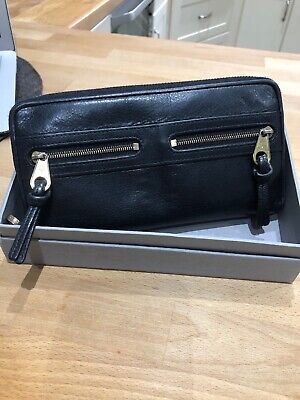 Genuine Mulberry Black Leather Mabel  Purse Wallet • 95£