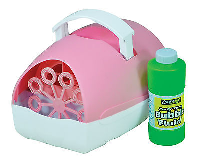 £14.59 • Buy Portable Pink Bubble Machine Fluid Included - Plug In Mains Or Battery Operated