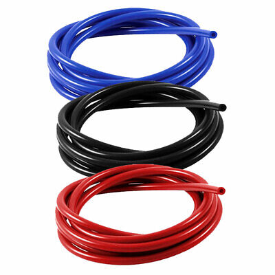 Silicone Rubber Vacuum Hose Pipe Tubing Tube Water Air Coolant  Blue Red Black • 3.13£