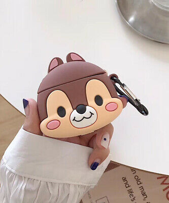 $ CDN6.43 • Buy For Apple Airpods Cartoon Squirrel Silicone Wireless Bluetooth Earphone Case