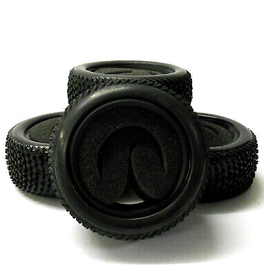 £11.99 • Buy BY-00910 1/10 Off Road Front Rear Buggy RC Rubber Grass Tyre Black Foam Insert 4