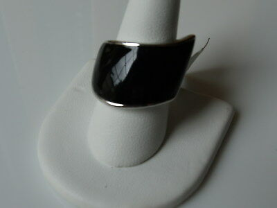 $ CDN13.57 • Buy Lia Sophia  Askew  Black Enamel Ring RV $58 New Size 5 6 7 8 11