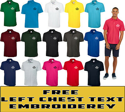 £7.99 • Buy Personalised Embroidered Classic Polo Shirt Unisex Work  Custom Your Text  UC101