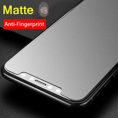 AU4.79 • Buy Matte Anti-Glare Tempered Glass Screen Protector For IPhone X XR XS MAX 8 7 PLUS