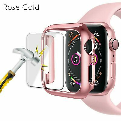 $ CDN5.09 • Buy For Apple Watch Series 4/3/2/1 Full Bumper Cover TPU Case + Screen Protector
