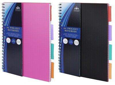 £2.79 • Buy A4, A5, A6 Project Notebook Workbook Spiral Bound Lined Page Ideas Planner Diary