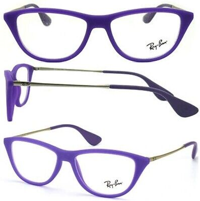 $39.95 • Buy New Authentic RAY BAN RX7042 5470 Purple Cat Eye 52mm Eyeglasses