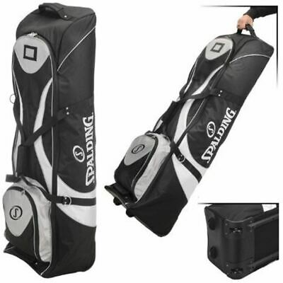 £49.99 • Buy Spalding Deluxe Padded Golf Bag Flight Travel Cover Wheeled Case With Wheels
