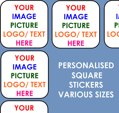 £2.59 • Buy Personalised Business Name Stickers Thank You Seals Your Logo Labels Address SQ
