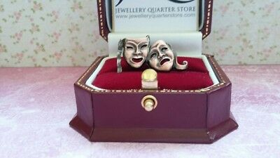 £6.50 • Buy Bronze Comedy Tragedy Theatre Drama Mask 25mm Lapel Pin Brooch - Gift Boxed
