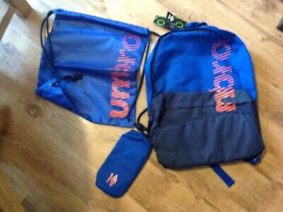 Blue Umbro Back Pack Plus Pumpbag And Pencil Case With Tags • 15£